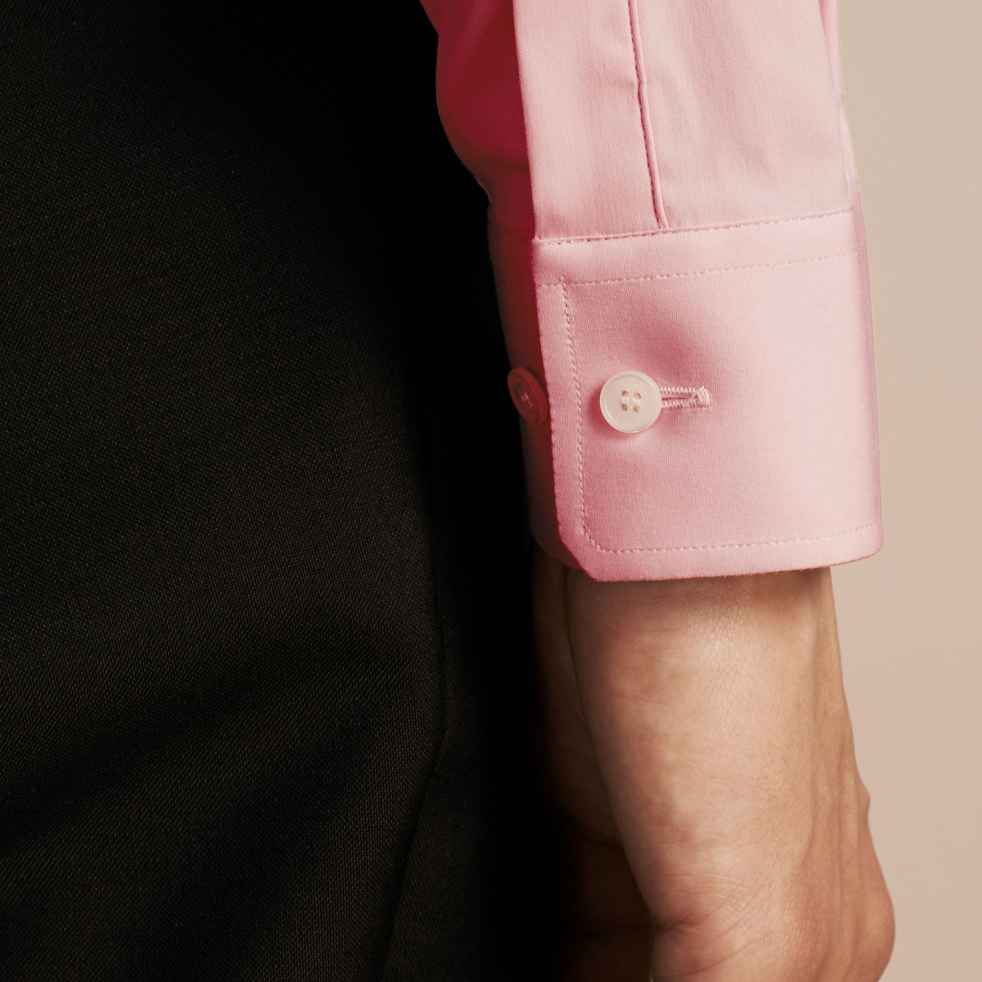 City pink Slim Fit Stretch Cotton Poplin Shirt City Pink - gallery image 5