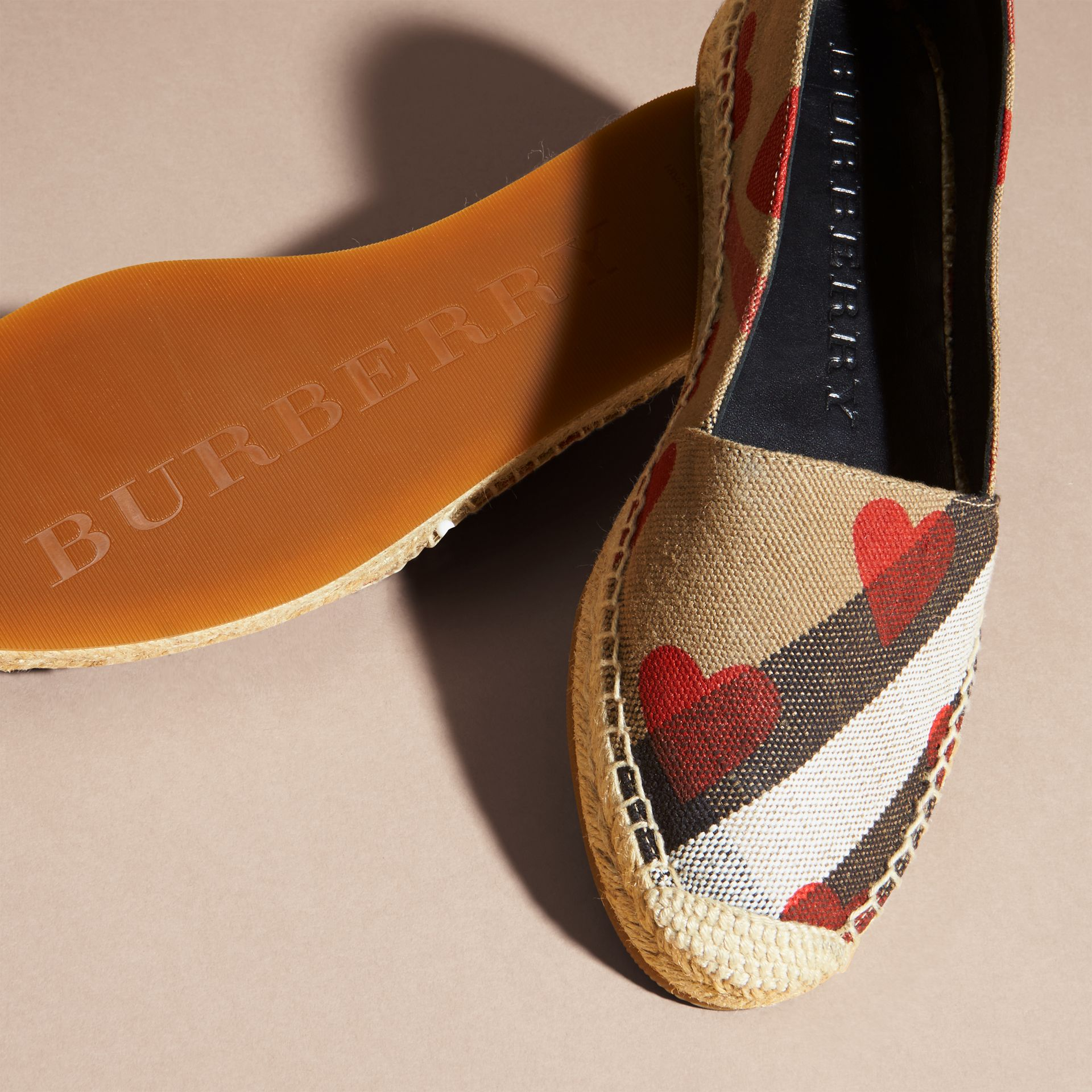 House check/parade red Heart and Canvas Check Espadrilles - gallery image 5