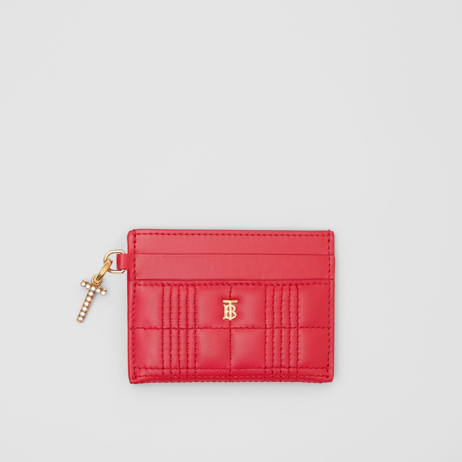 Monogram Motif Quilted Lambskin Card Case in Bright Red - Women | Burberry Hong Kong S.A.R - gallery image 5
