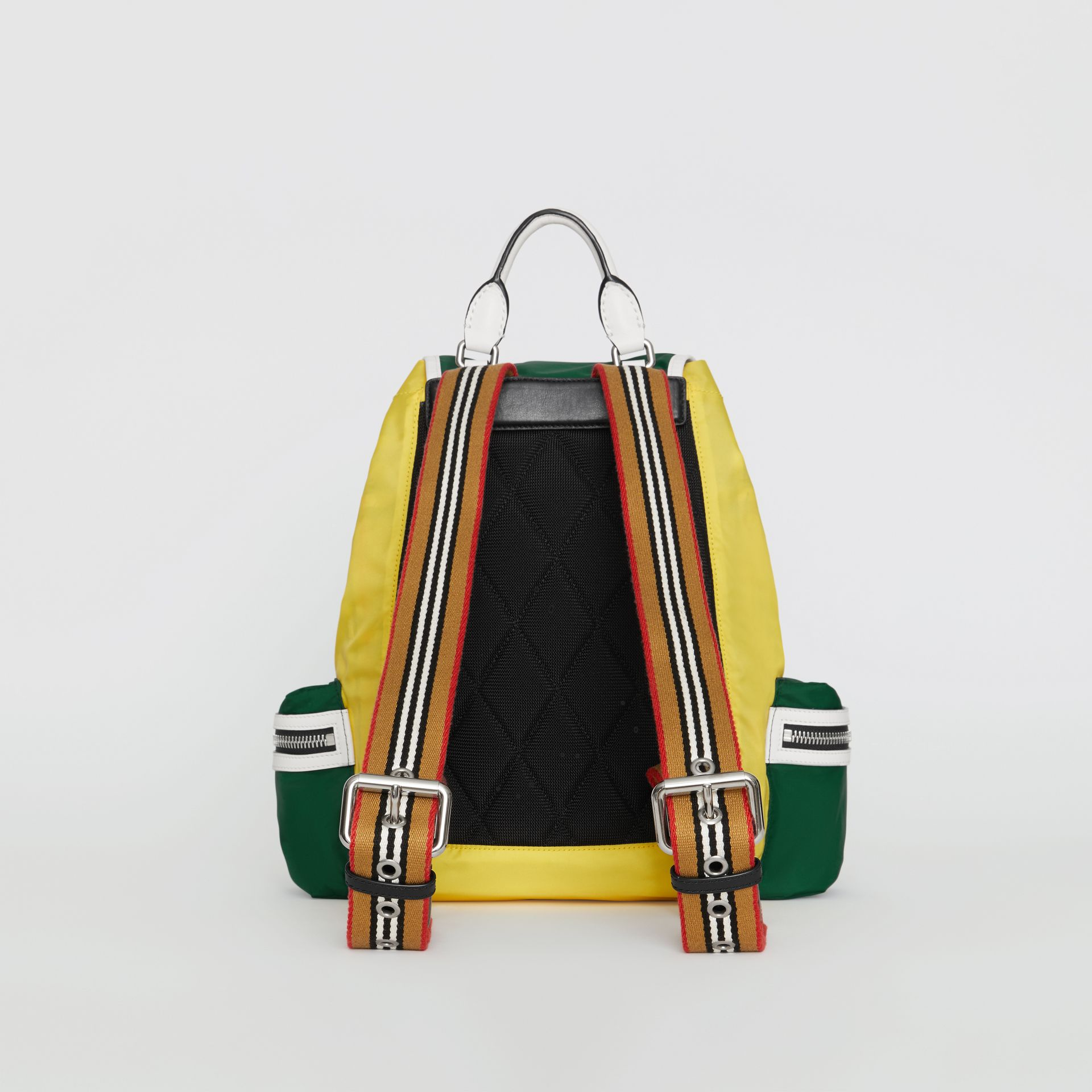 The Medium Rucksack in Colour Block Nylon and Leather in Pine Green - Women | Burberry Canada - gallery image 5