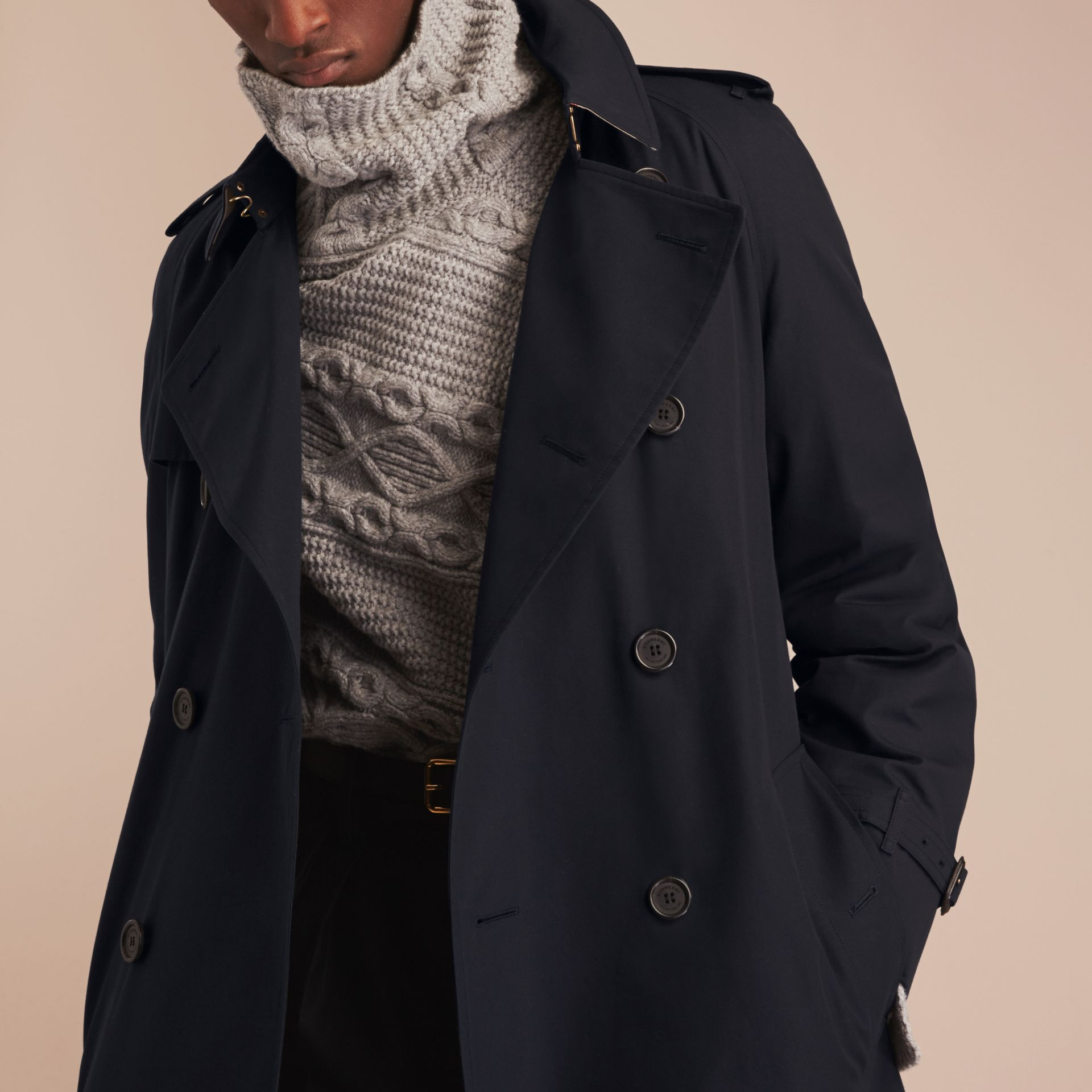 Navy The Westminster – Long Heritage Trench Coat Navy - gallery image 6