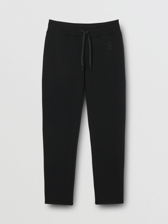 Monogram Motif Technical Trackpants in Black