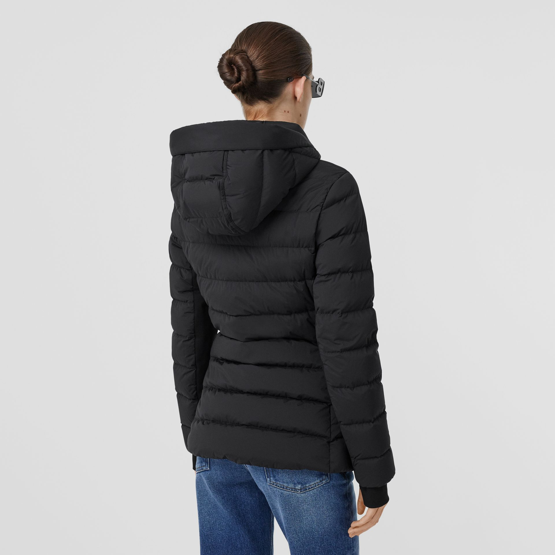 Hooded Puffer Jacket in Black - Women | Burberry United States - gallery image 2