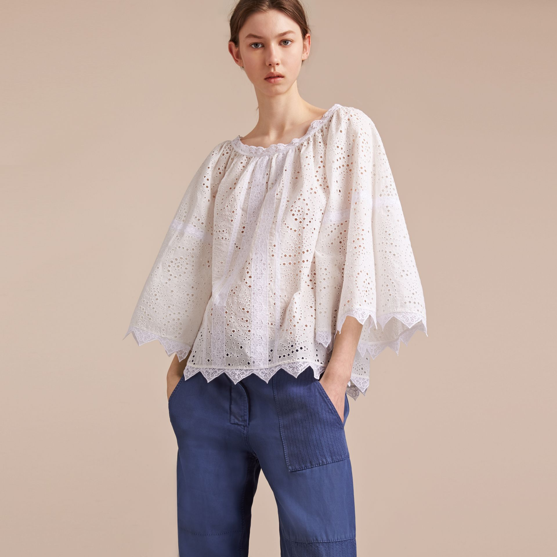 Broderie Anglaise Flared Top - gallery image 6