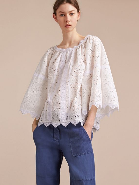 Broderie Anglaise Flared Top