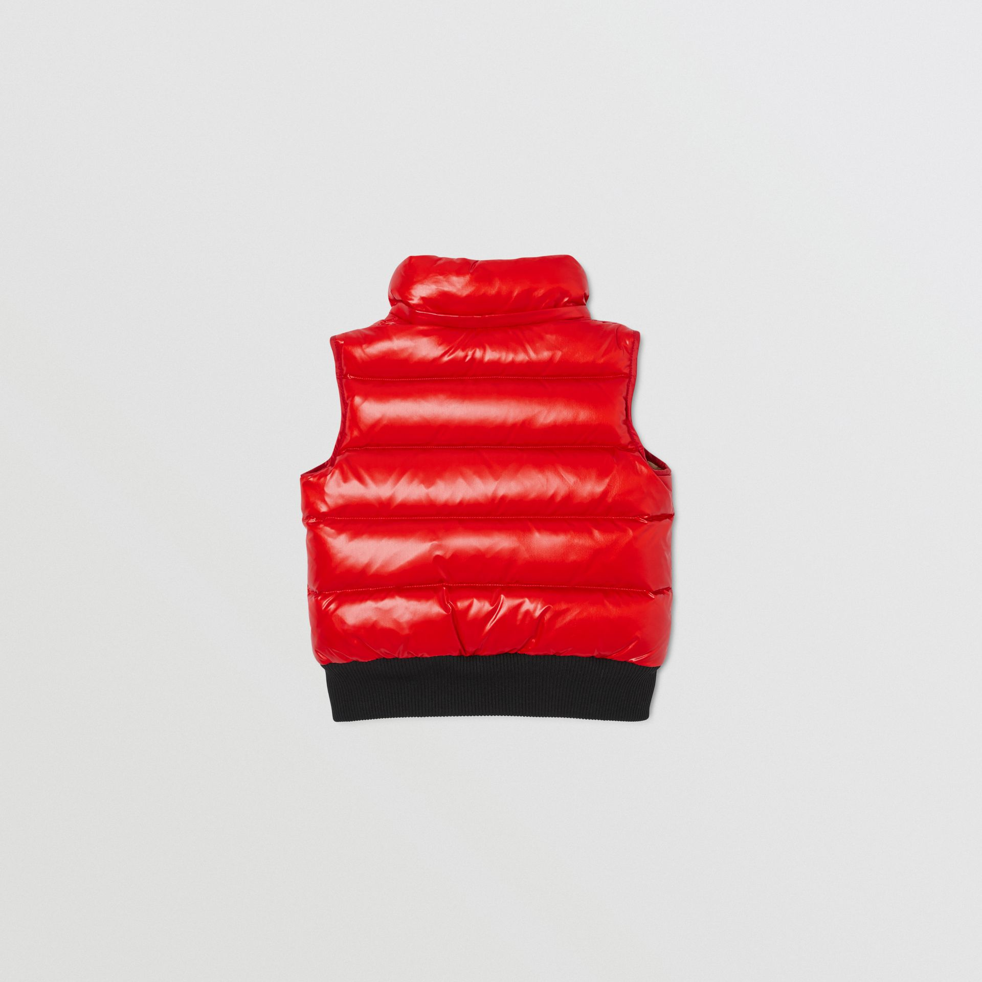 Detachable Hood Nylon Puffer Gilet in Pillar Box Red | Burberry Canada - gallery image 4
