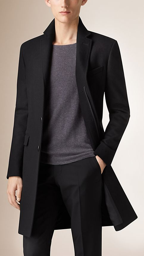 Black Wool Cashmere Topcoat - Image 1