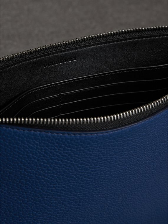 Grainy Leather Zip Pouch in Bright Ultramarine | Burberry - cell image 3