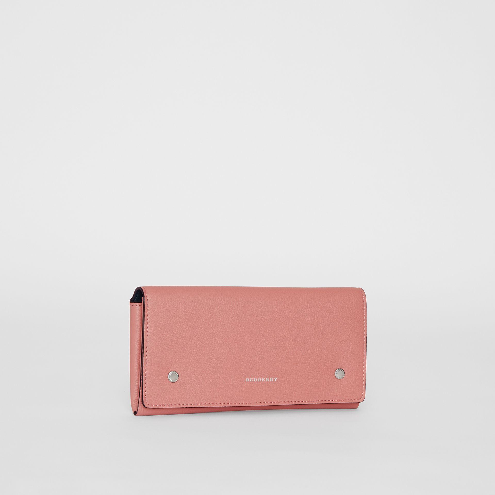 Two-tone Leather Continental Wallet in Dusty Rose - Women | Burberry United Kingdom - gallery image 4