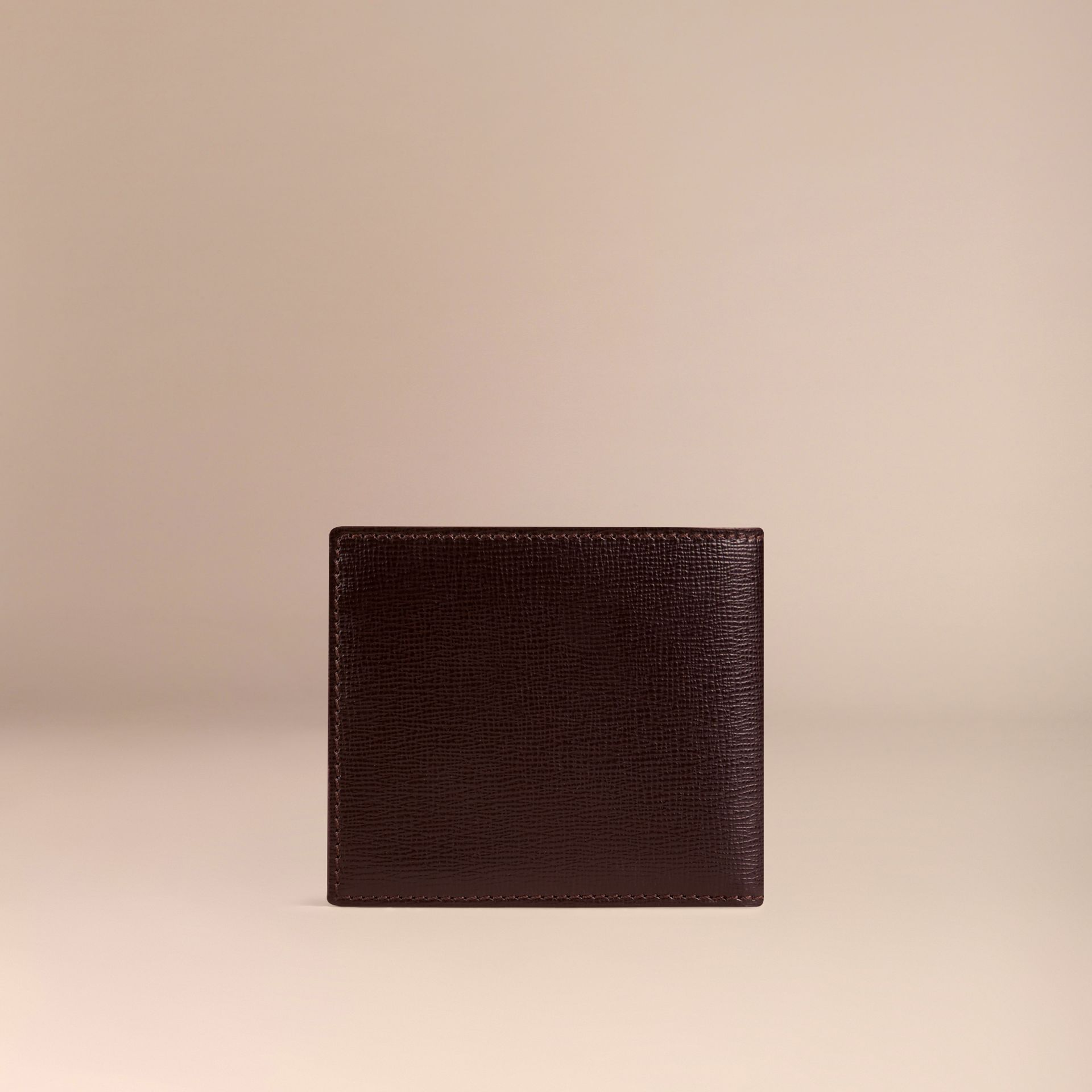 Wine London Leather ID Wallet Wine - gallery image 3