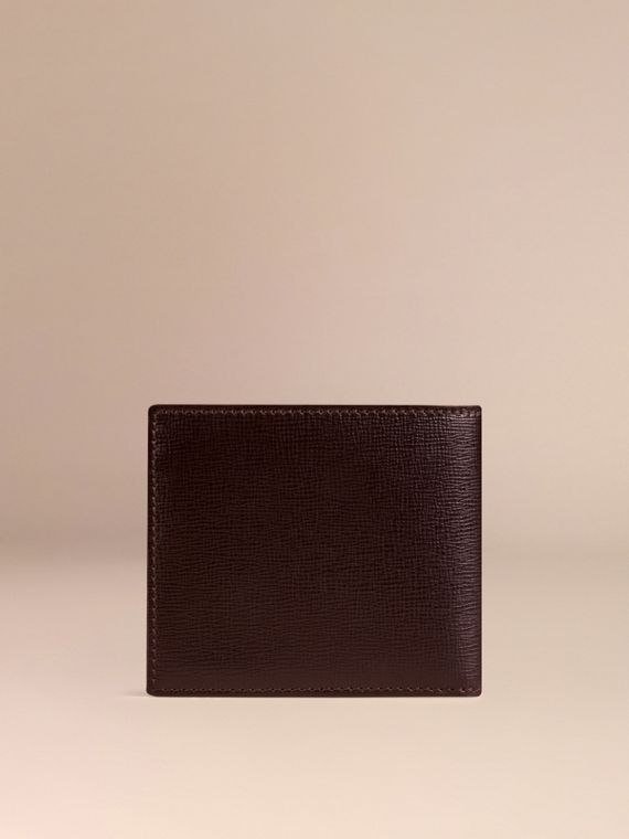 Wine London Leather ID Wallet Wine - cell image 2