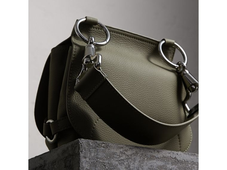 The Bridle Bag in Deerskin in Slate Green - Women | Burberry - cell image 4