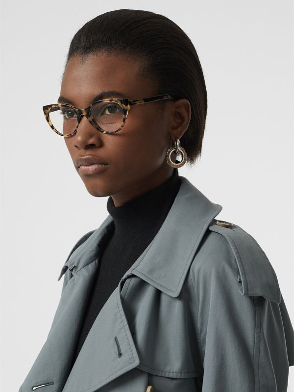 Cat-eye Optical Frames in Tortoise Shell - Women | Burberry - cell image 2