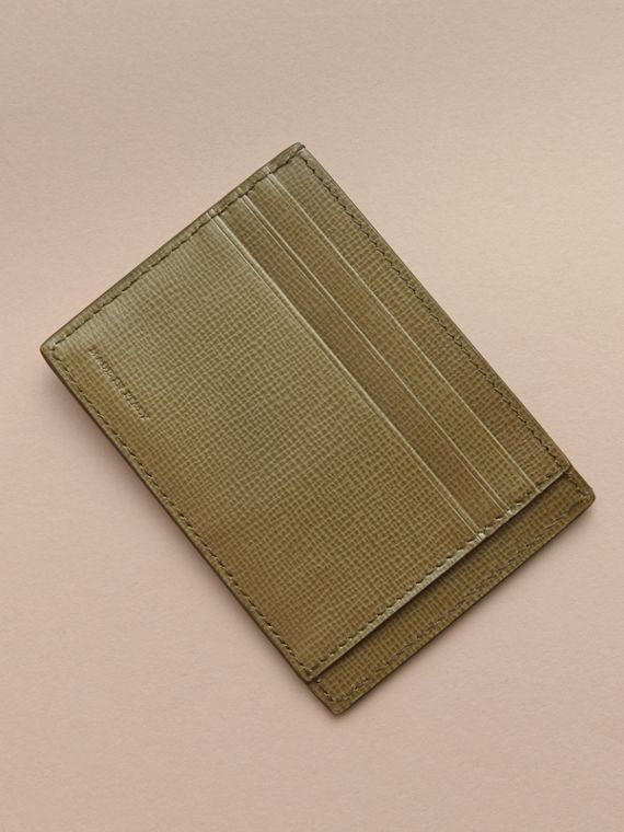 London Leather Card Case in Olive Green | Burberry Canada - cell image 2