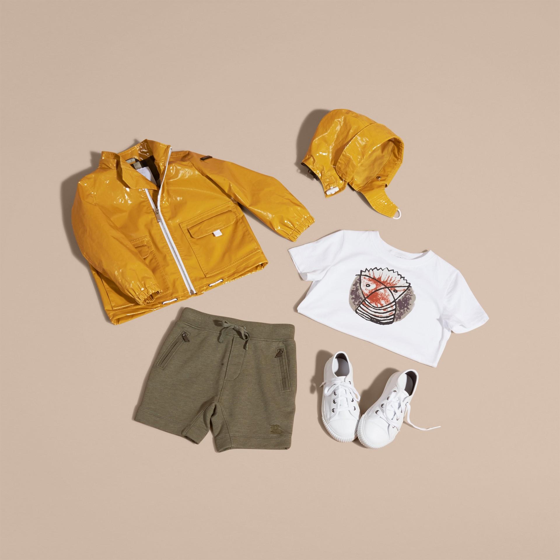 Glossy Showerproof Jacket with Detachable Hood - gallery image 5