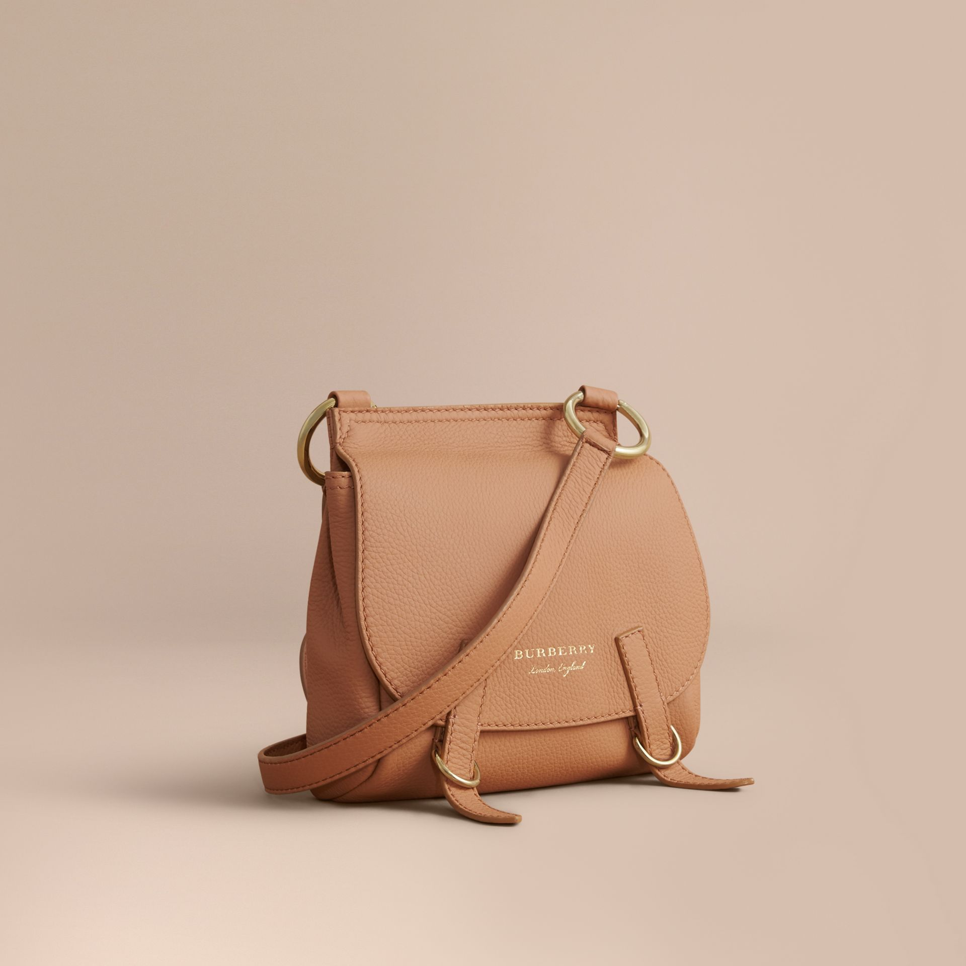 The Bridle Crossbody Bag in Deerskin in Pale Clementine - Women | Burberry - gallery image 1