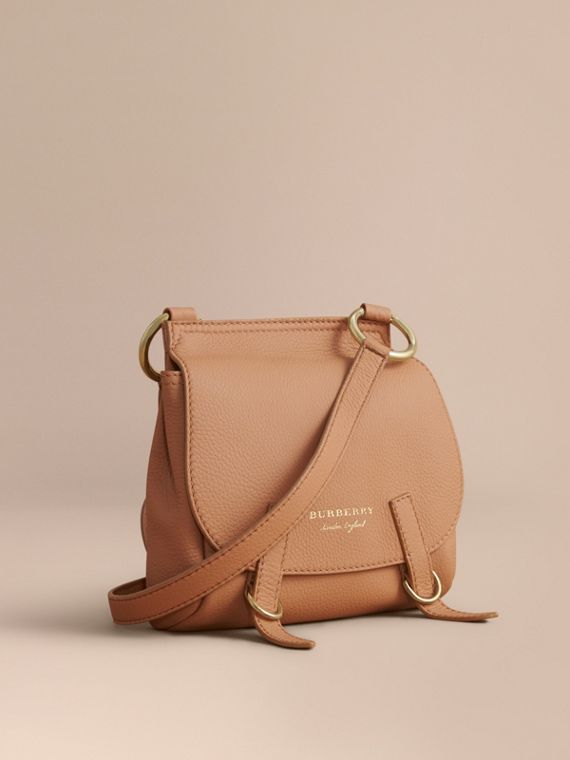 The Bridle Crossbody Bag in Deerskin in Pale Clementine
