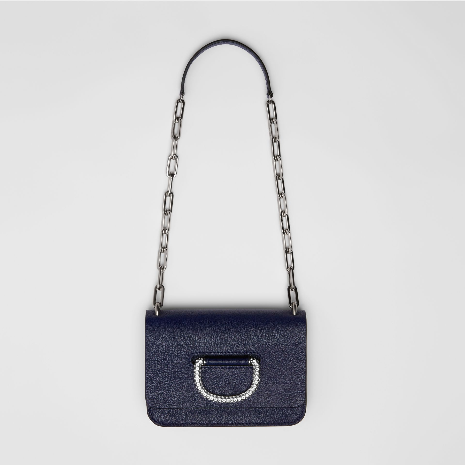 The Mini Leather Crystal D-ring Bag in Regency Blue - Women | Burberry - gallery image 2