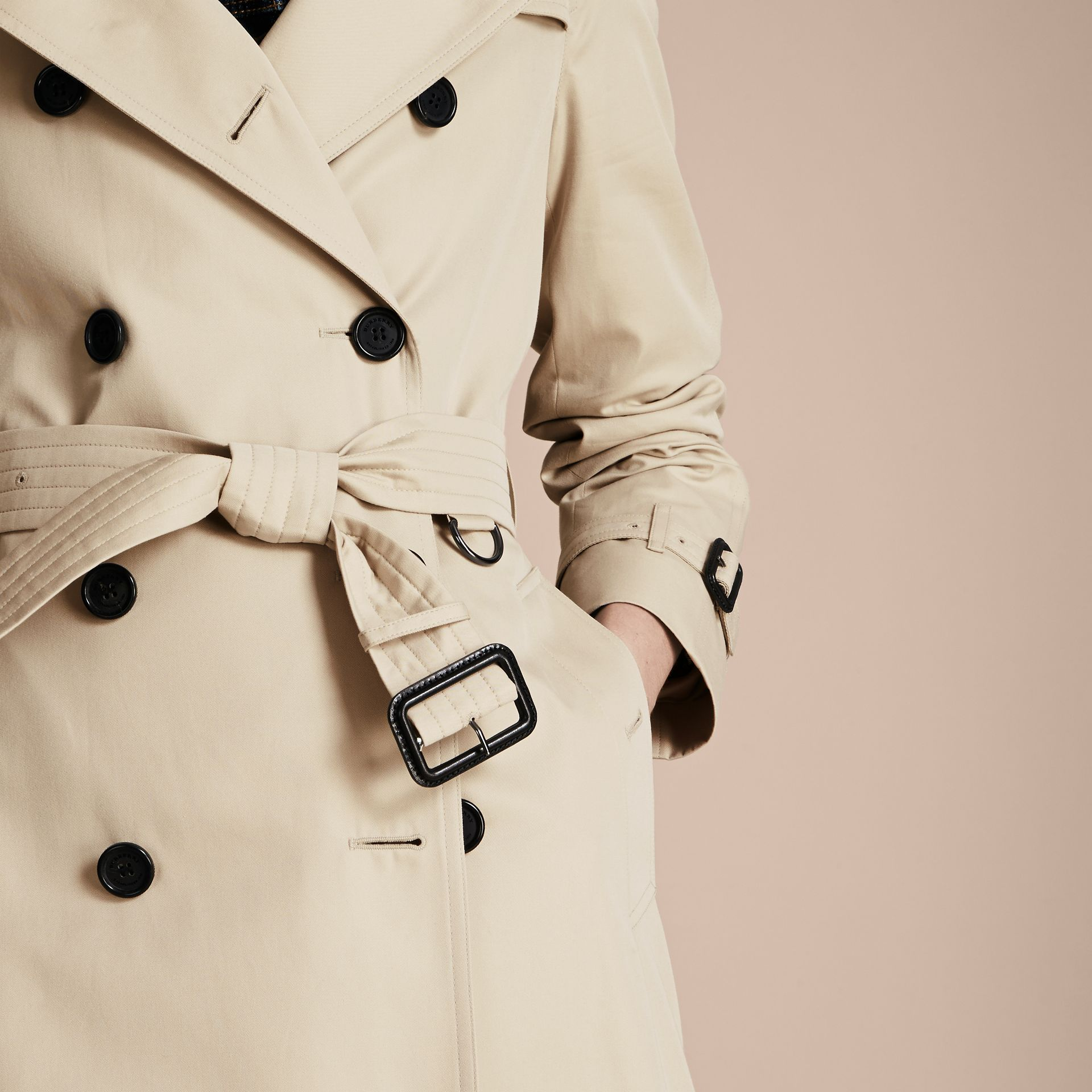 Stone The Westminster – Long Heritage Trench Coat Stone - gallery image 5