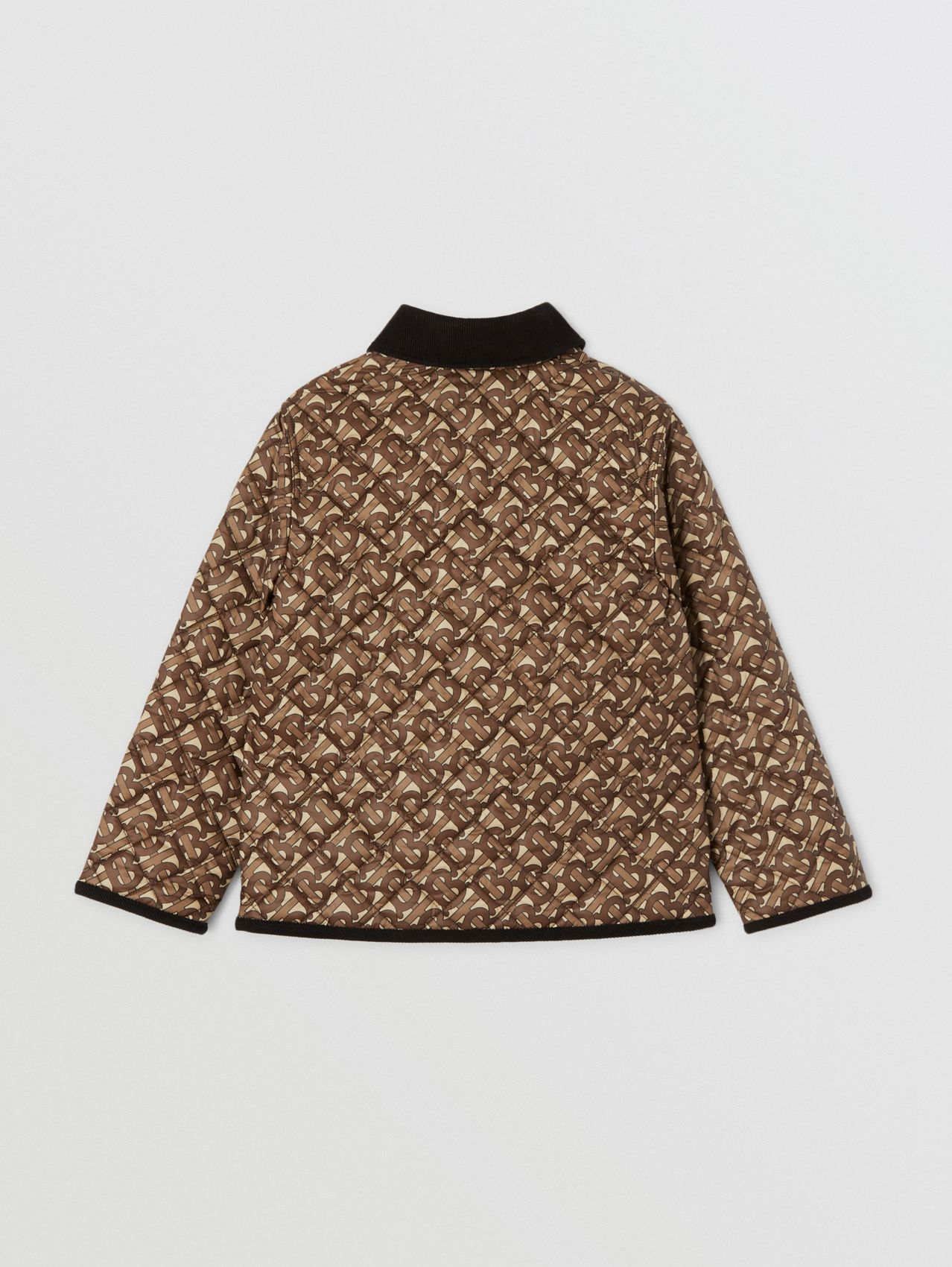 Monogram Print Diamond Quilted Jacket (Bridle Brown)