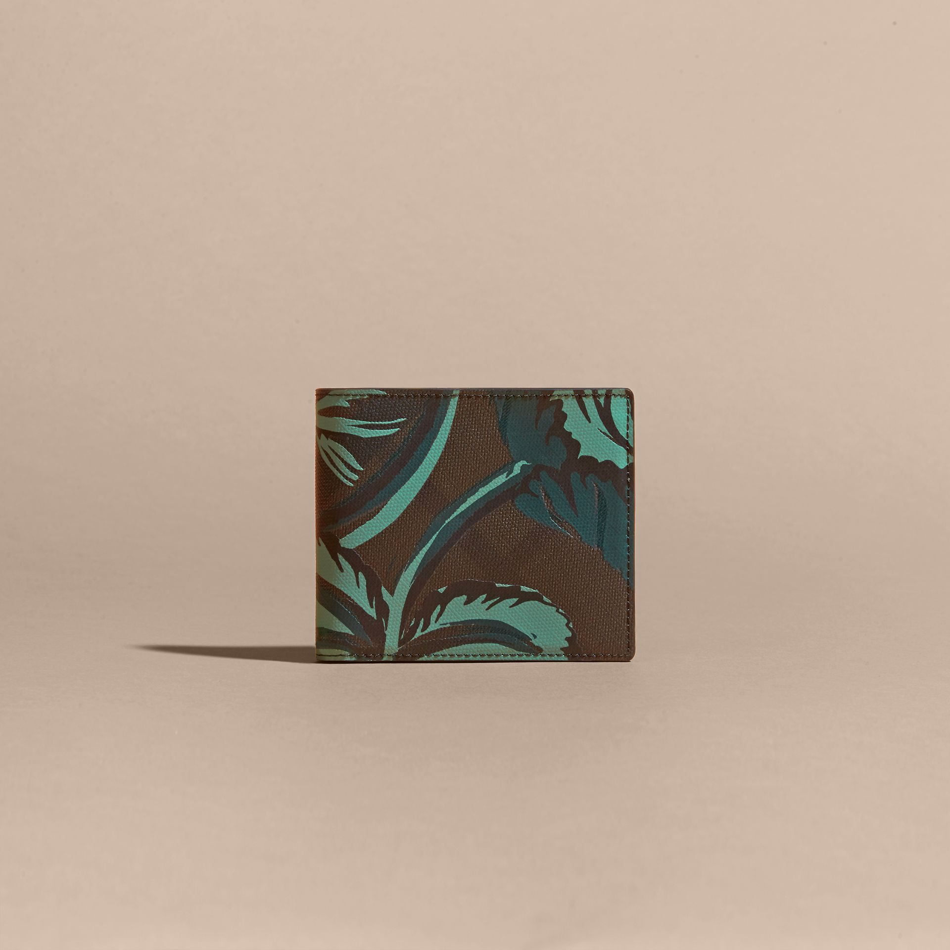 Chocolate floral Floral Print London Check Folding Wallet Chocolate - gallery image 6