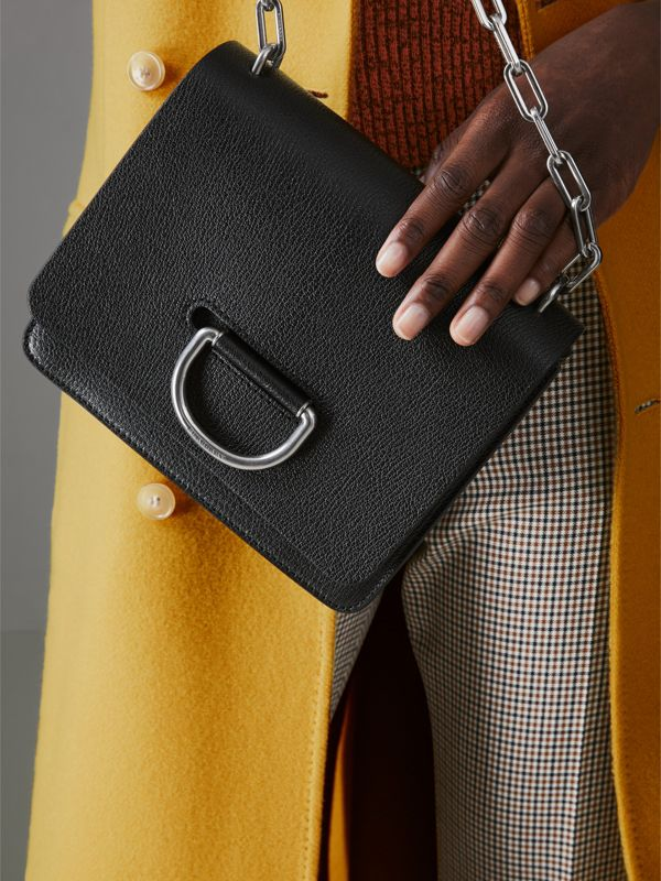 The Small Leather D-ring Bag in Black - Women | Burberry Hong Kong S.A.R - cell image 3