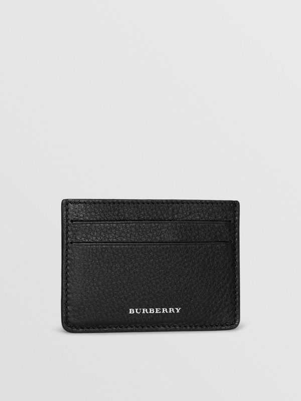 Grainy Leather Card Case in Black - Men | Burberry - cell image 3