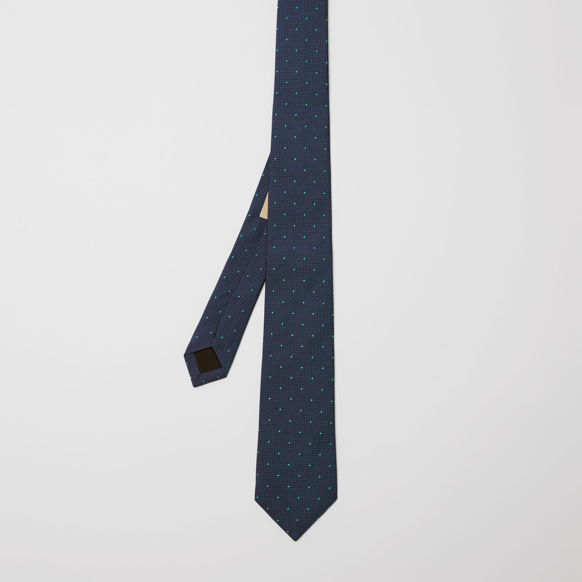 Modern Cut Polka Dot Silk Tie in Mineral Blue - Men | Burberry United States - gallery image 3