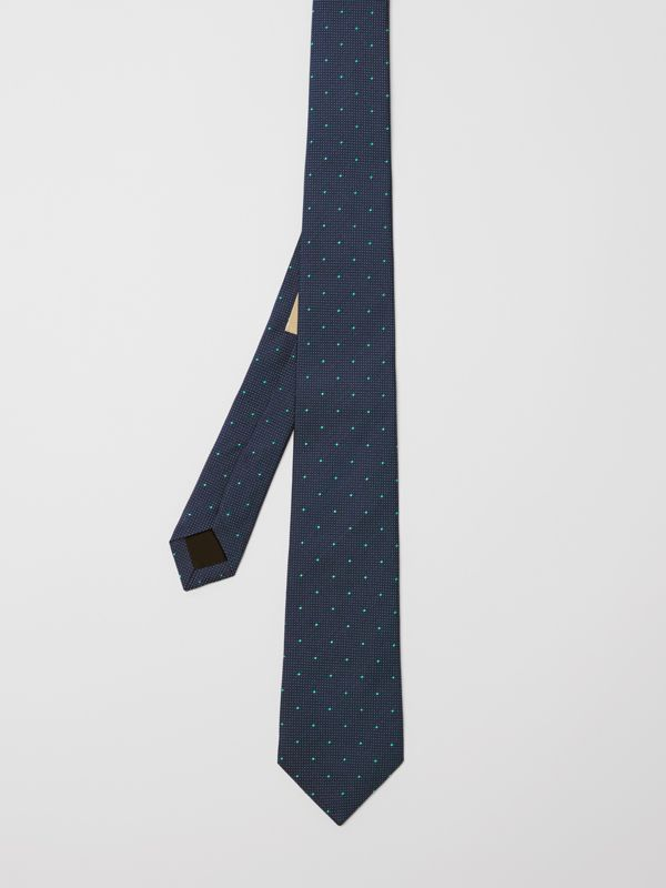 Modern Cut Polka Dot Silk Tie in Mineral Blue - Men | Burberry United States - cell image 3