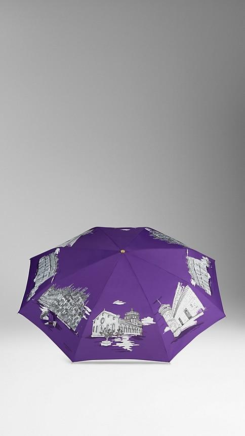 Amethyst Milan Landmarks Folding Umbrella - Image 3