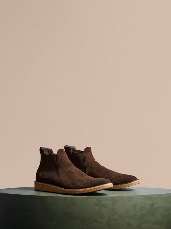 Washed-suede Chelsea Boots with Crepe Soles