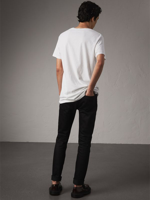 Camiseta de algodão com estampa Doodle (Branco) - Homens | Burberry - cell image 2