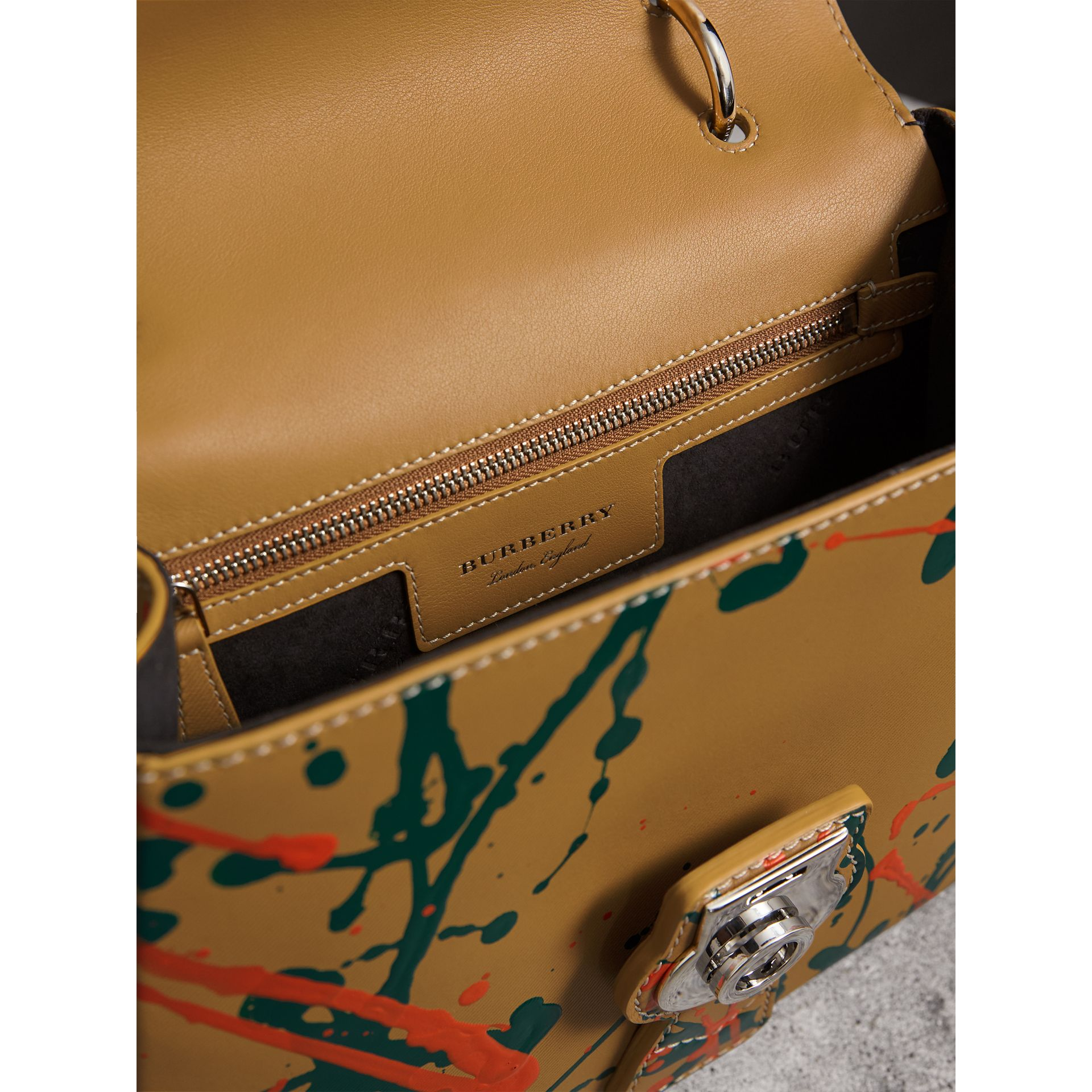 The Medium DK88 Splash Top Handle Bag in Ochre Yellow - Women | Burberry Australia - gallery image 4