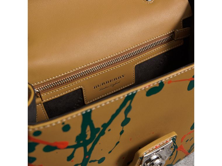 The Medium DK88 Splash Top Handle Bag in Ochre Yellow - Women | Burberry Australia - cell image 4