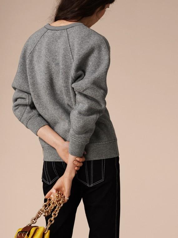 Midgrey melange/black Wool Cashmere Sculpted Sweatshirt Midgrey Melange/black - cell image 3