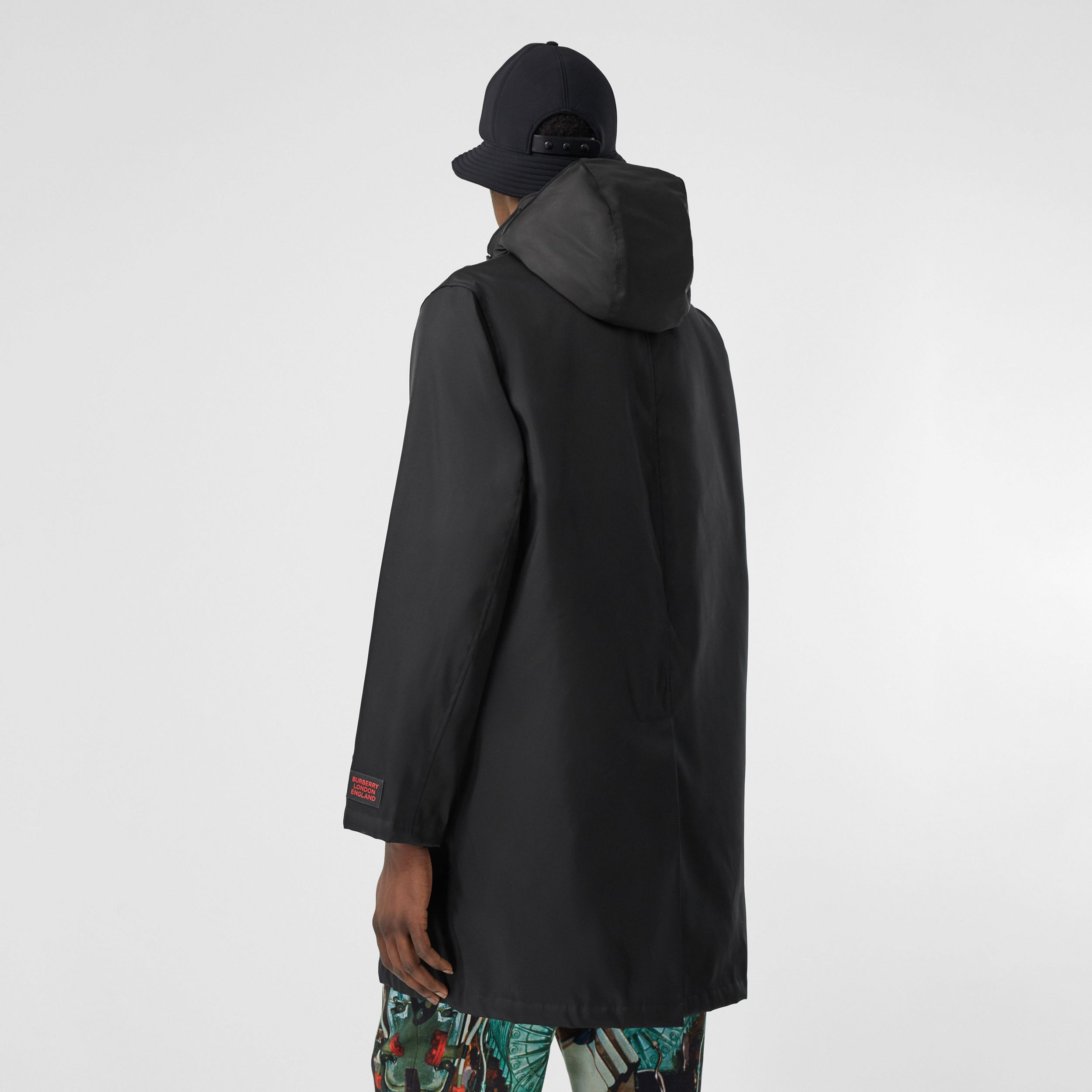 Nylon Car Coat with Detachable Hooded Warmer in Black - Men | Burberry Hong Kong S.A.R - 3