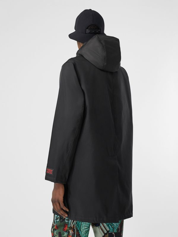 Nylon Car Coat with Detachable Hooded Warmer in Black - Men | Burberry - cell image 2
