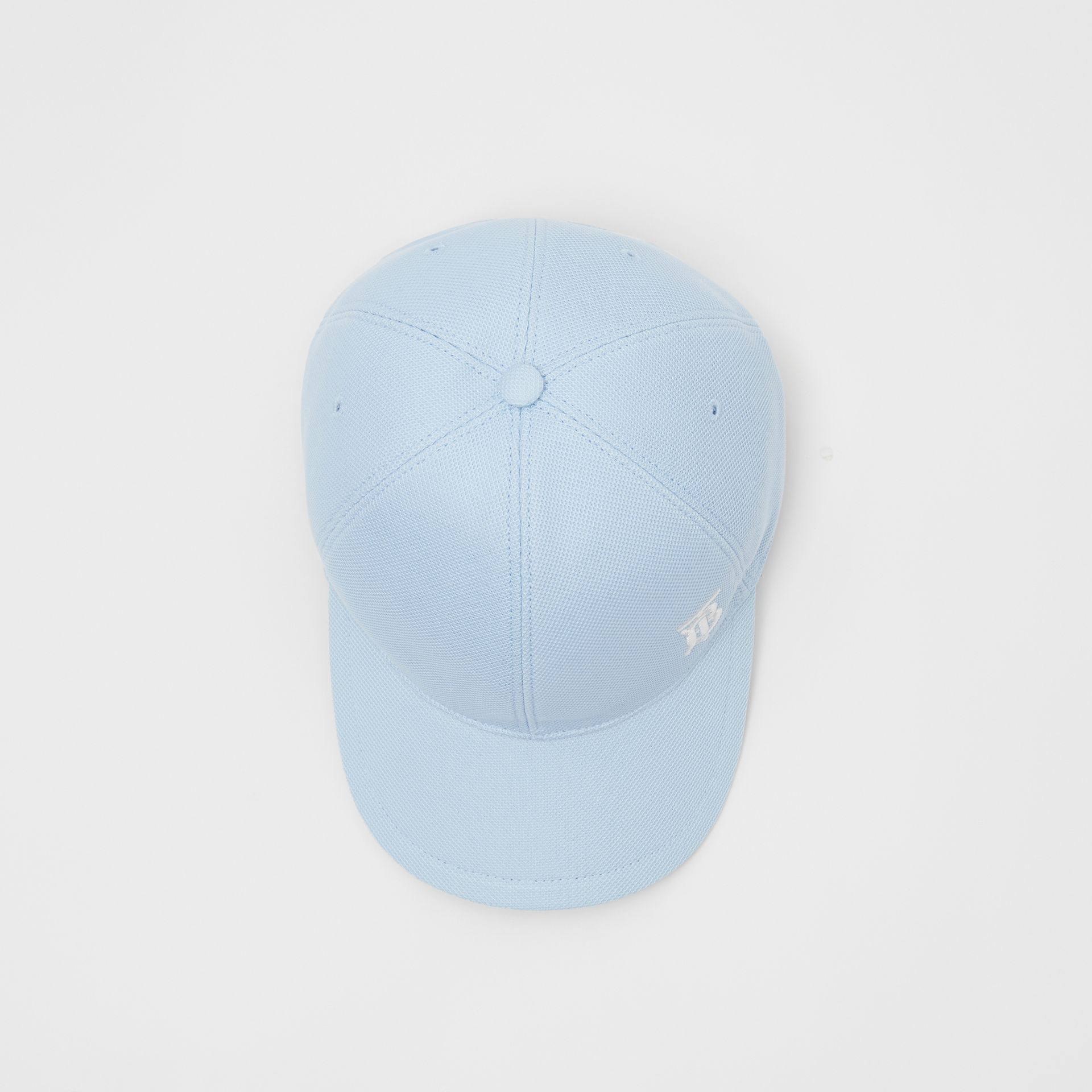 Monogram Motif Baseball Cap in Pale Blue | Burberry Canada - gallery image 0