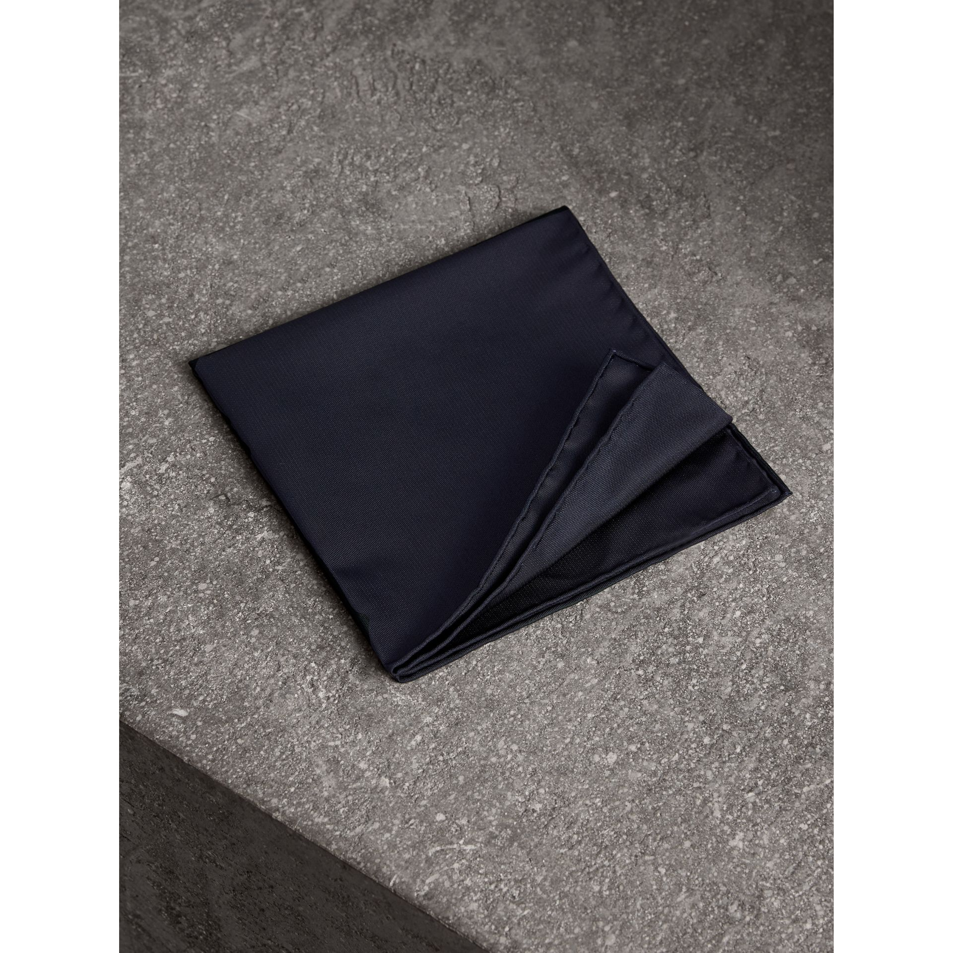 Silk Pocket Square in Midnight - Men | Burberry United Kingdom - gallery image 1