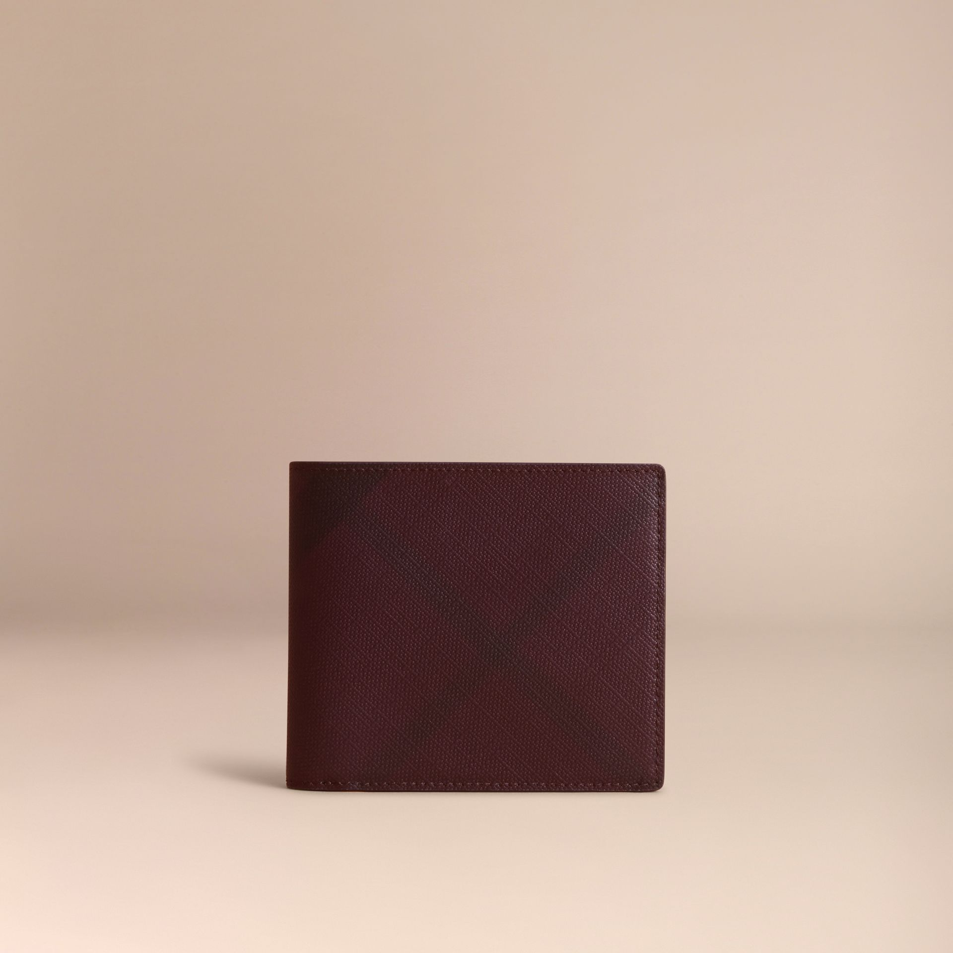 London Check Folding Wallet in Deep Claret - Men | Burberry Singapore - gallery image 6