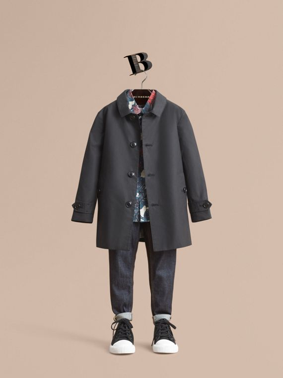 Mercerised Cotton Car Coat - Boy | Burberry Singapore