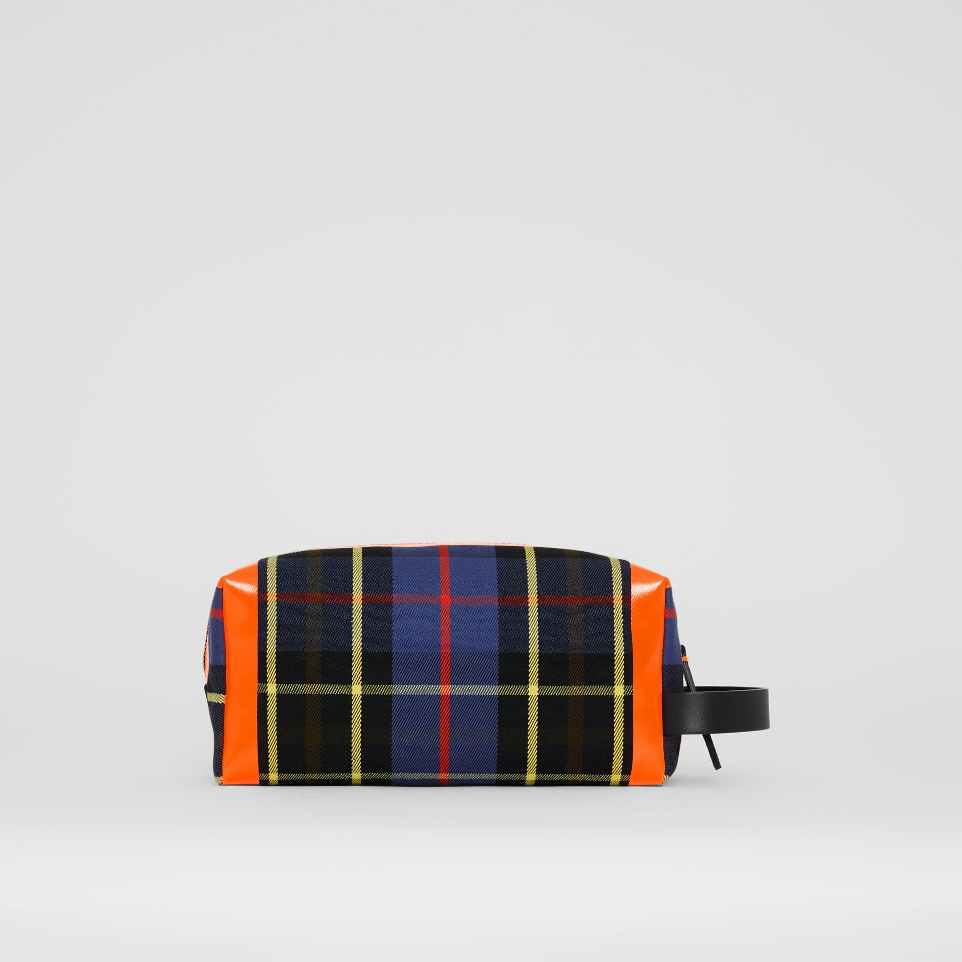 Tartan Cotton Pouch in Cobalt | Burberry - gallery image 7