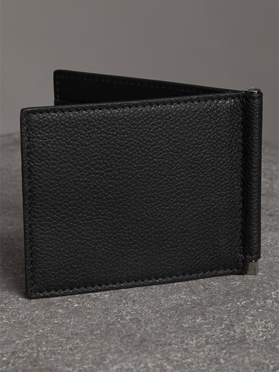 Brieftasche aus genarbtem Leder mit Kartenfächern und Geldscheinklammer (Schwarz) - Herren | Burberry - cell image 2