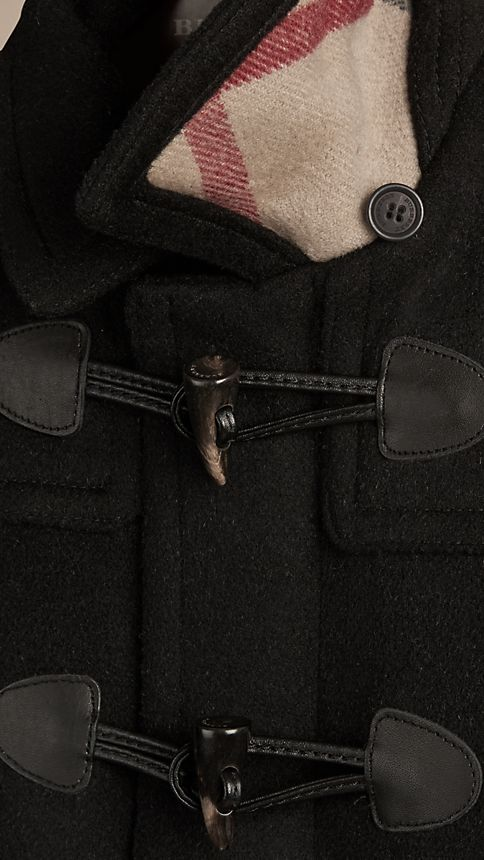 Black Wool Duffle Coat - Image 4