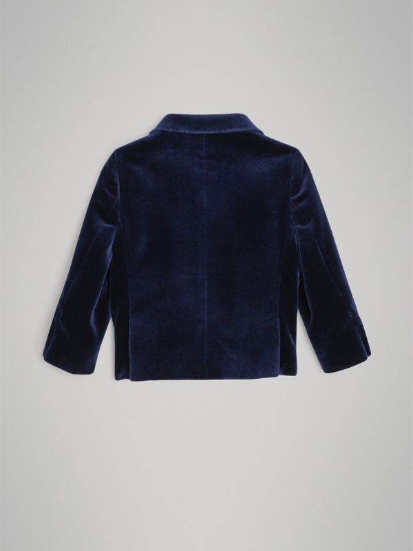 Velvet Tuxedo Jacket in Midnight Blue - Children | Burberry United Kingdom - cell image 3