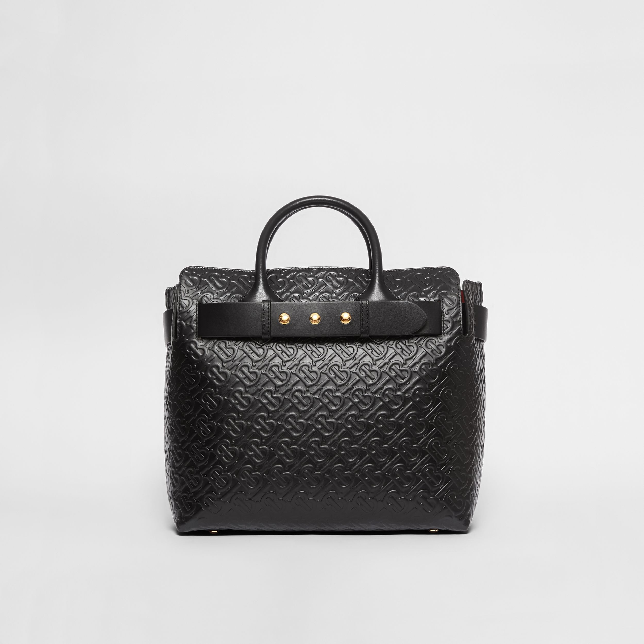 The Medium Monogram Leather Triple Stud Belt Bag in Black - Women | Burberry - 1