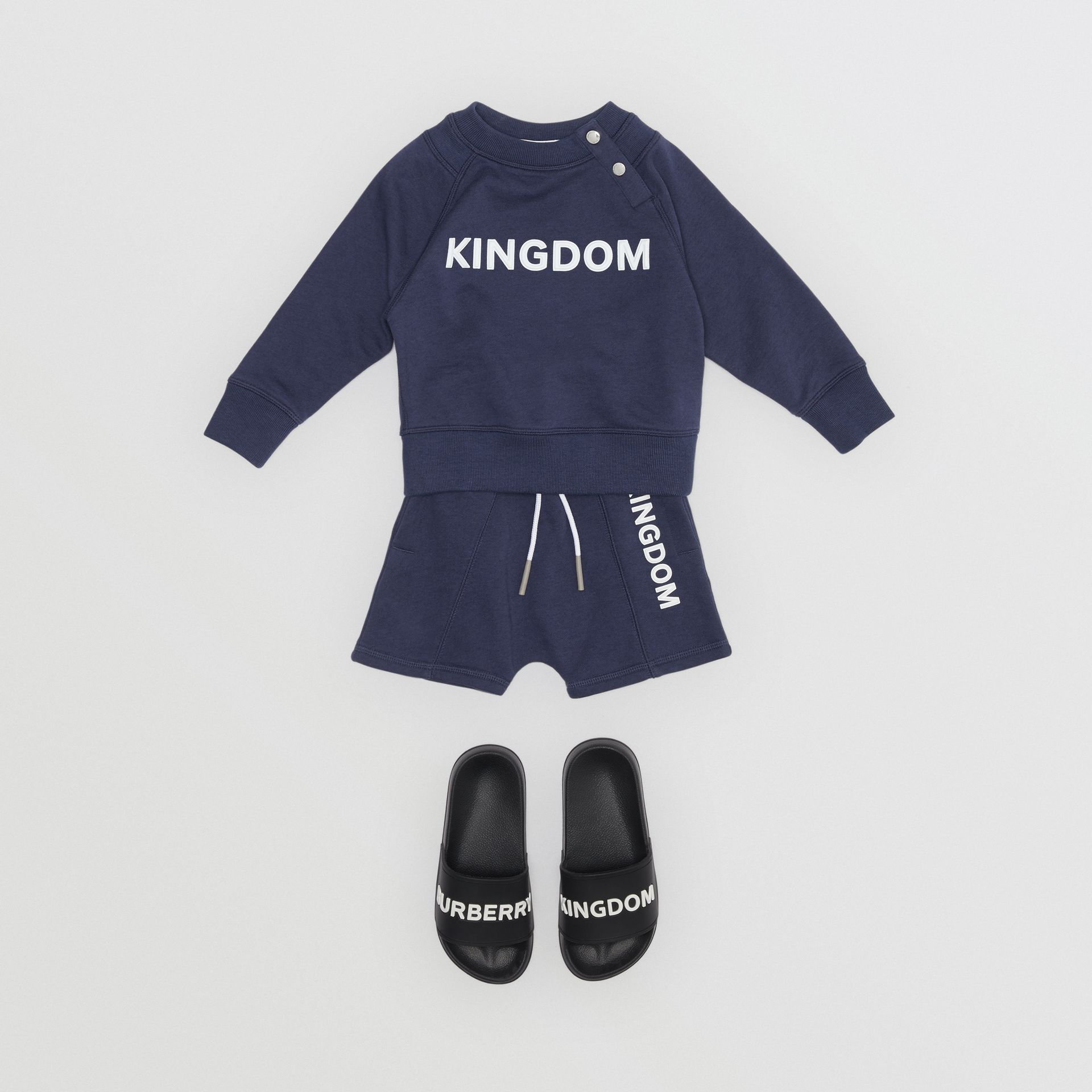 Sweat-shirt en coton Kingdom (Camaïeu De Bleus Ardoise) - Enfant | Burberry - photo de la galerie 2
