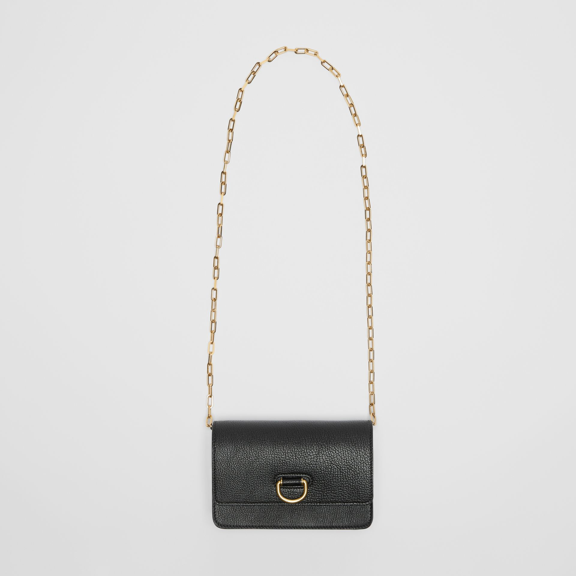The Mini Leather D-ring Bag in Black - Women | Burberry United States - gallery image 3