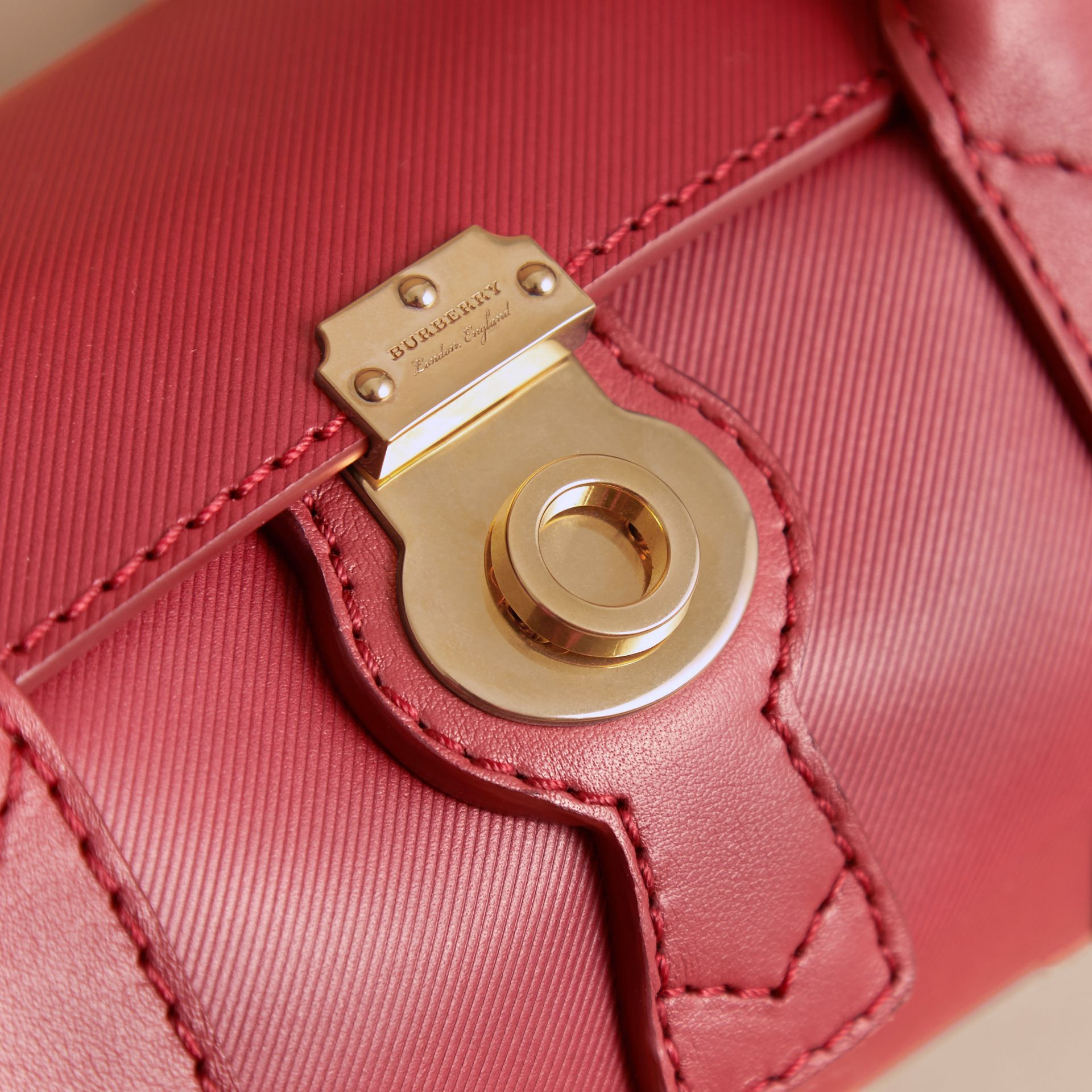 The Small DK88 Barrel Bag in Antique Red - Women | Burberry - gallery image 1