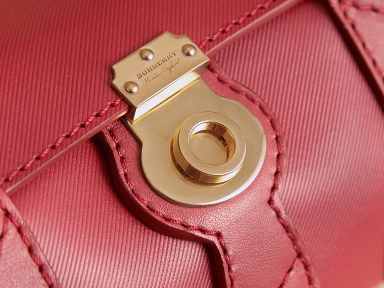 The Small DK88 Barrel Bag in Antique Red - Women | Burberry United States - cell image 1